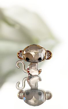 Swarovski. Monkeys are my favorite. Just can't resist, must have this little guy! Hint, hint kids!! - GCP
