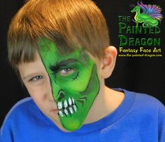 Photo Gallery - The Painted Dragon -- Face painting for the Quad Cities and surronding areas. Dragon Face Painting, Monster Face, Quad Cities, Green Monsters, Halloween Face, Photo Galleries, Gallery, Birthday, Party