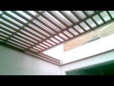 Techo corredizo sol y sombra con estructura. De al - YouTube