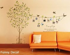 Photo tree---Vinyl Wall Decal Tree Wall Decals Wall stickers Nursery wall decal children wall decals ( Welcome to custom). $62,00, via Etsy.