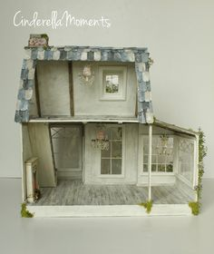 "I loved ""In Tatters"" dollhouse so much I decided to do another design very similar but bigger. This one is called ""Petit Bonheur"" custom dol..."