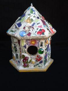 Mosaic Birdhouse 8 x 7' x 7 OOAK by MountainMosaicsmore on Etsy