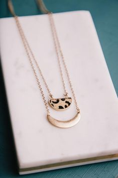 Leopard is a girl's best friend. Along with the gold chain, it has a fun layered look that you won't be able to resist. Gold Necklace, Layered Necklace, Layered Look, Girls Best Friend, Gold Chains, Layers, Type 3, Accessories, Jewelry