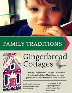 Creating traditions- decorating gingerbread cottages at Christmas with your grandchildren