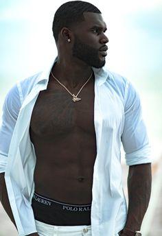 White Hot Fine Black Men, Gorgeous Black Men, Handsome Black Men, Black Boys, Beautiful Men, Black Man, Dark Skin Men, Black Men Beards, Bald With Beard