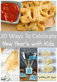 Life With 4 Boys: 20 Ways to Celebrate New Year's with Kids. New Year's crafts, recipes and activities for kids. New Years With Kids, Kids New Years Eve, New Years Eve Food, New Years Party, New Year's Eve Activities, Toddler Activities, Kids Party Tables, New Year's Eve Crafts, New Year Diy