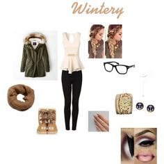 Wintery by baby-jaquar on Polyvore featuring Jane Norman, American Eagle Outfitters, Topshop, UGG Australia, Sara Designs, Brooks Brothers, Forever 21 and Tom Ford