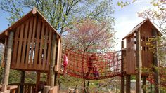 Treehouses #kids #nature #play