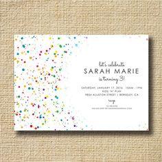 Rainbow Birthday Invitation Birthday Invite by creativelime