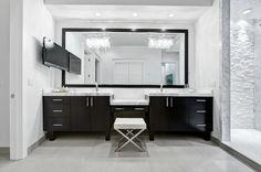 Suzie: Beach Chic Design - Modern, contemporary master bathroom design with twin Crystal Linear ...