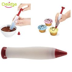 Delidge 1PC Dessert Decorator Pen Pastry Icing Cream Chocolate Cake Decorating Tools Cupcake Biscuit Bakeware Decorating Drawing