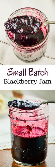 Small Batch Blackberry Jam. makes approximately 2 pint jars of jam without pectin.  via @homeinFLX