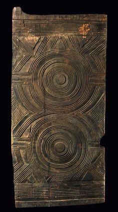 Africa | Door from the Igbo people of Nigeria | Heavy wood