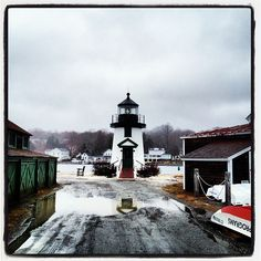 lighthouse mystic connecticut almostspring @ Mystic Seaport  #scenesofnewengland #soCT, #soNElighthouse