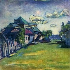 Painter Wassily Kandinsky. Moscow Environs. 1908