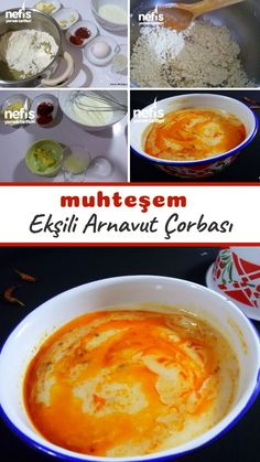 Great Recipes, Soup Recipes, Turkish Kitchen, Tasty, Yummy Food, Turkish Recipes, Food Art, Pudding, Food And Drink