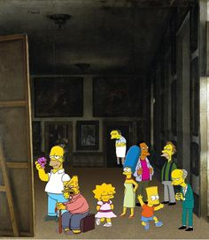 Las Meninas- Simpsons Edit by SonofChinglu on DeviantArt Guernica, Picasso, Diego Velazquez, Hispanic Art, Frank Stella, Spanish Art, Famous Artwork, Middle School Art, Modern Artists