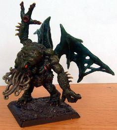 Reaper Miniatures - Eldritch Demon (Cthulhu), painted by hellric Call Of Cthulhu Rpg, Reaper Miniatures, Hp Lovecraft, Old Ones, War Machine, Warhammer 40k, Lion Sculpture, Inspiration, Art