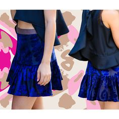 ¡Combinación de Night-Out Outfit FK! Falda alta estampada y camisa con crop top front y espalda larga. ¡Perfecto para cenas, drinks o fiestas!  All FK Night-Out Outfit Combination! High waisted printed skirt and a semi crop top front with a longer back. Perfect for dinners, drinks and parties!