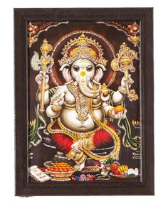 Buy Ganesha Picture in India  Shree Ganesh is god of knowledge and the remover of obstacles. Lord Ganesha is worshipped, or at least remembered, in the beginning of any auspicious performance for blessings and auspiciousness. He has four hands, elephant's head and a big belly. His vehicle is a tiny mouse.  http://www.godsutra.com/categories/god-pictures?cat=ganesha  For More Information Visit Us:- http://www.godsutra.com/ Contact Us: 9899777806