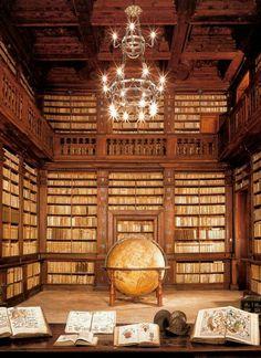 bibliofila:    Fermo Public Library (Italy), Globe Room  Source: Museo Diffuso del Fermano