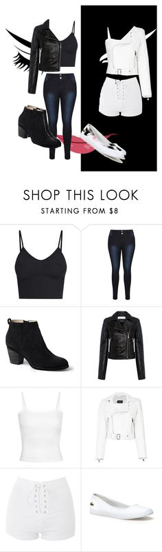 """""""Girls aren't made of sugar, spice, and everything nice"""" by fallinginreality ❤ liked on Polyvore featuring Lands' End, IRO, Manokhi, Topshop and Lacoste"""