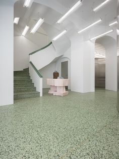 Fashion Retail Interior, Shop Till You Drop, Terrazzo, Oslo, Acne Studios, Stairs, Lighting, Architecture, Inspiration