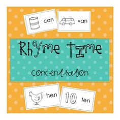 A fun and easy game for your literacy center. Your children will enjoy finding word pairs that rhyme. We use these cards in several different ways...
