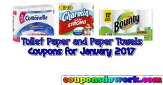 Toilet Paper and Paper Towel Coupons January 2017 - https://couponsdowork.com/coupon-deals/toilet-paper-and-paper-towel-coupons-january-2017/