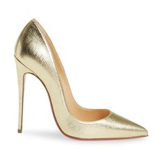 Women's Christian Louboutin So Kate Pointy Toe Pump ($695) ❤ liked on Polyvore featuring shoes, pumps, pointy toe stilettos, red sole shoes, wrap shoes, christian louboutin shoes and pointy toe stiletto pumps