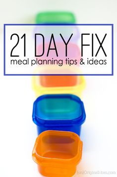 21 Day Fix meal planning ideas and tips from a non-beachbody coach