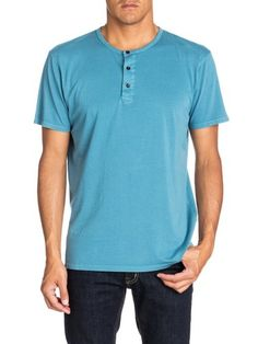 QUIKSILVER Quiksilver Kurzarm-T-Shirt »Merton« blau