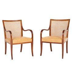 Pair of Frits Henningsen Open Armchairs   From a unique collection of antique and modern armchairs at http://www.1stdibs.com/furniture/seating/armchairs/