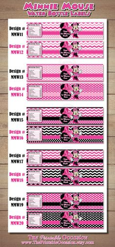 ANY SET of TWO Pink Polka Dot and Chevron by ThePrintableOccasion