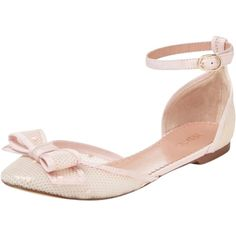 Pre-owned Red Valentino Pink Gqs000436-arpg01 Flats (525 BRL) ❤ liked on Polyvore featuring shoes, flats, pink, pre owned shoes, flat shoes, pink shoes, red valentino shoes and flat heel shoes