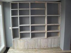 Steigerhout boekenkast