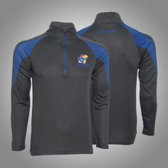 Don't break a sweat in this #KansasUniversity Adrenalilne 1/4 Zip L/S Tee l Gameday Super Store