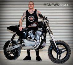 Awesome looking custom Harley XR1200 used by Aussie stunt rider Seth Enslow.