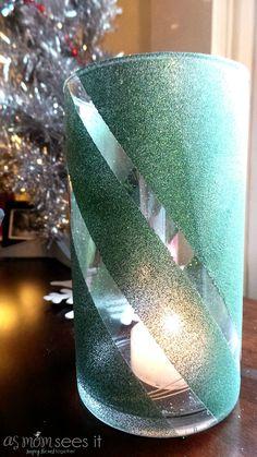 Christmas Craft: DIY Glitter Vase