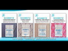 ¡Selecciona la aguja correcta para cada tipo de tela, hilo o técnica! Rhonda Pierce, experta en agujas Schmetz nos comparte una breve explicación acerca de los diferentes tipos de aguja para máquina de coser familiar; existe una aguja especial para coser piel, telas stretch, jeans, tejidos de punto, para bordados, para quilting y muchas más!