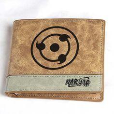 NARUTO Wallet Japanese Fashion Cartoon Purses Pattern Printing Comics Wallet Young Men Boys Money Bag Card Wallet