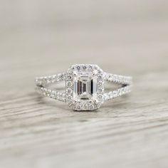 Split Shank Ring Split Shank Engagement Rings, Antique Engagement Rings, Designer Engagement Rings, Diamond Engagement Rings, Halo Diamond, Emerald Diamond, Emerald Cut, Blake Lively, Wedding Rings