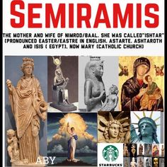 Semiramis Hislop believed that Semiramis was a consort of Nimrod (and mother & wife of their son tammud.aka cupid) builder of the Bible's Tower of Babel, although biblical mention of consorts to Nimrod is lacking. Ancient Aliens, Ancient History, Pseudo Science, Sun Worship, Babylon The Great, Black History Facts, Bible Knowledge, World Religions, Bible Truth