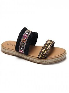Embroidery Heels, Embellished Top, Cheap Shoes, Tribal Prints, Womens Slippers, Slide Sandals, Espadrilles, Join, Shoes Heels