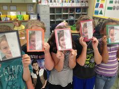 symmetry activity...take a picture of each student, cut it in half...students draw the other side of their face