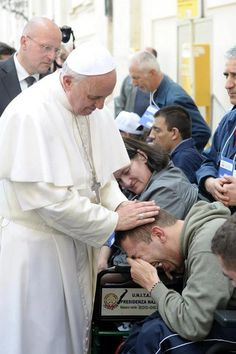 Papa Francesco's laying of hands is very powerful. ~ General Audience on April 24, 2013