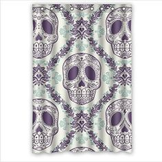 "Personalized handsome sugar skull design,cool skull art Bathroom Waterproof Polyester Fabric Shower Curtain 48"" x 72"" sugar skull Shower Curtain http://www.amazon.com/dp/B00KVYX6RY/ref=cm_sw_r_pi_dp_7Uq5tb0MGZPQ3"