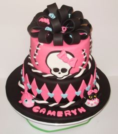 Monster High, I line ths cake