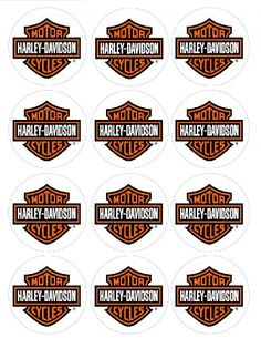 Single Source Party Supplies - 2.5 Harley Davidson Motorcycle Cupcake Edible Icing Image Toppers #3 - . - Balloons - Toys - $5.50