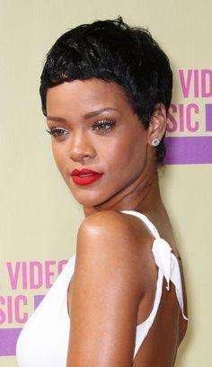 20 Fabulous Styles for Black Hair: Rihanna's Short Pixie Hair
